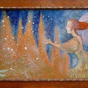 Fairy makes snow
