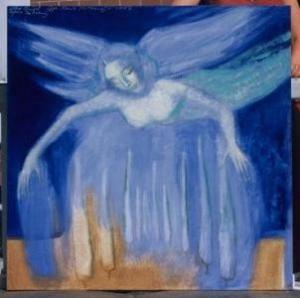 A Blue Angel over Tuscany