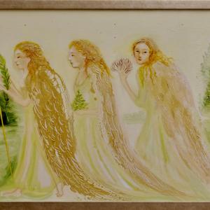 Inglid õhtul kuusemetsas